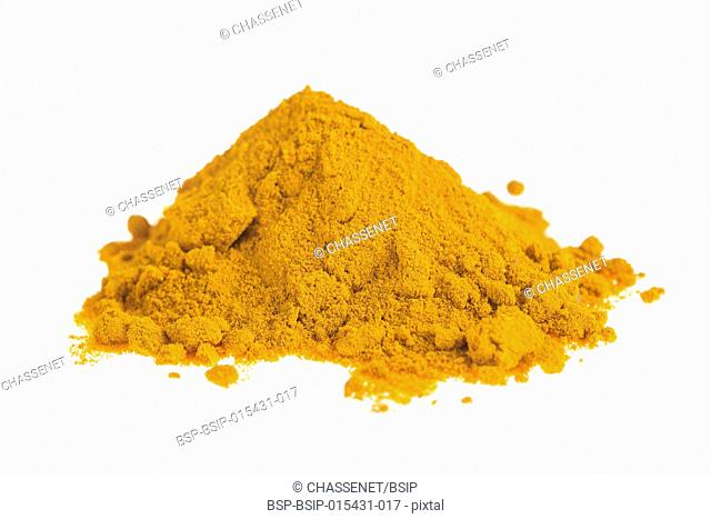 Curcuma powder.Turmeric isolated on white background