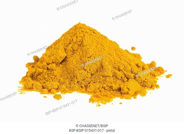 Curcuma powder.Turmeric isolated on white background