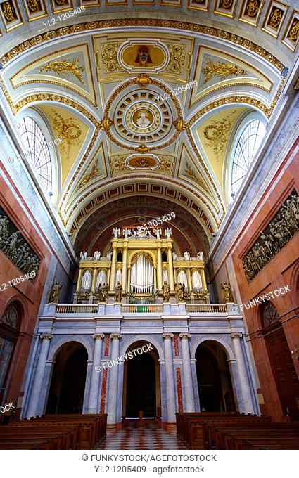 Interior of the Neo Classical Klaszicista Esztergom Basilica, Cathedral  Esztergomi Bazilika , Hungary