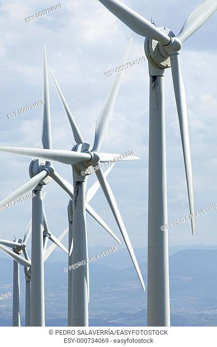 windmills in Aguilar de Codes, Navarre, Spain
