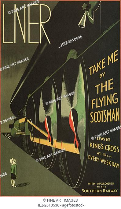Take me by the Flying Scotsman, 1932. Artist: Thomson, Alfred Reginald (1894-1979)