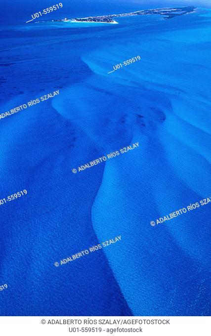 Underwater dunes, Isla Mujeres, Caribbean, Mexico