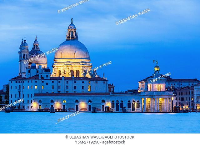 Basilica di Santa Maria della Salute at Venice seen from San Giorgio Maggiore, Veneto, Italy, Europe