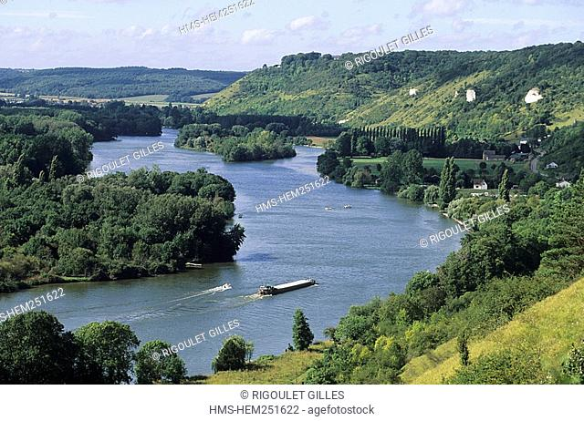 France, Eure 27, Amfreville, the Seine