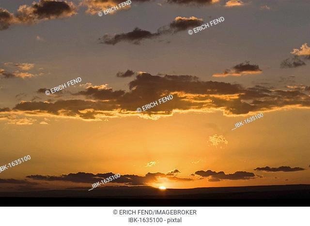 Sunset in San Pedro de Atacama, Atacama Desert, Chile, South America