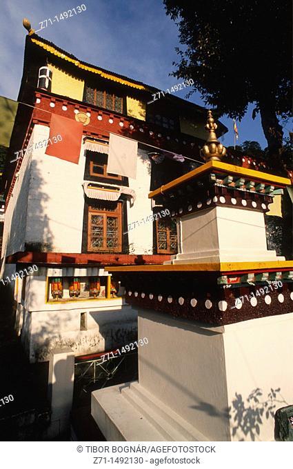 India, Himachal Pradesh, Dharamsala, McLeod Ganj, Dip Tse-Chok Ling Gompa