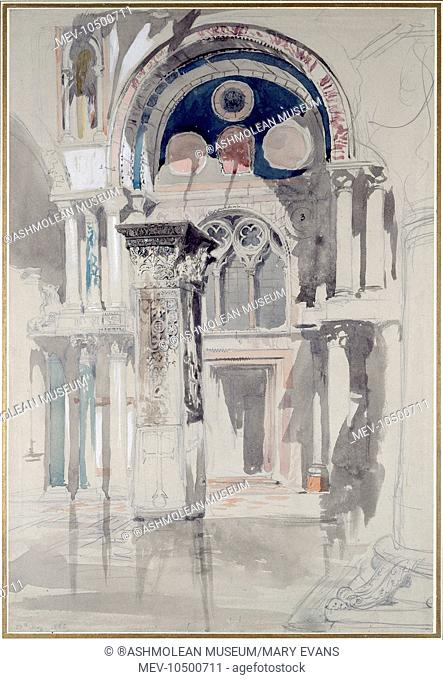 St Marks, Venice. Sketch after Rain. John Ruskin