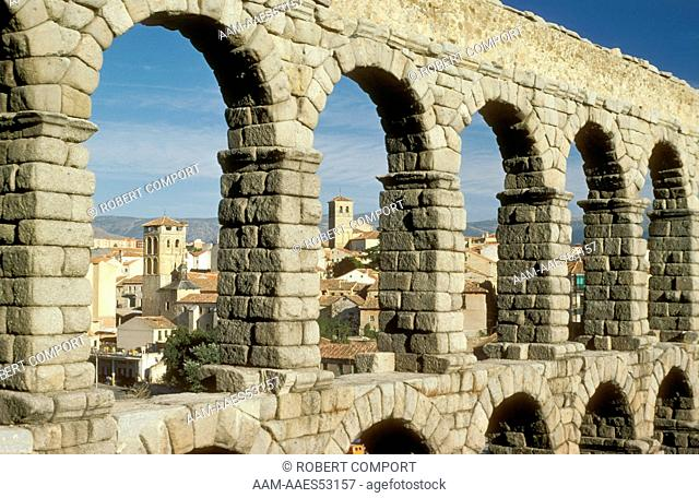 Roman Aquaduct Segovia, Spain
