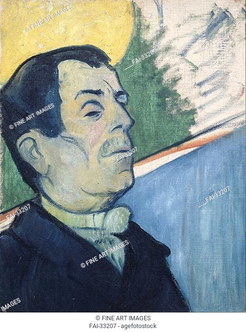 Portrait of a man by Gauguin, Paul Eugéne Henri (1848-1903)/Oil on canvas/Postimpressionism/1888/France/Van Gogh Museum, Amsterdam/Portrait/Painting/Bildnis...