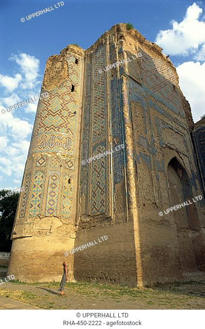 Tamerlane's Palace gate, Shakhrisabz, near Samarkand, Uzbekistan, Central Asia, Asia
