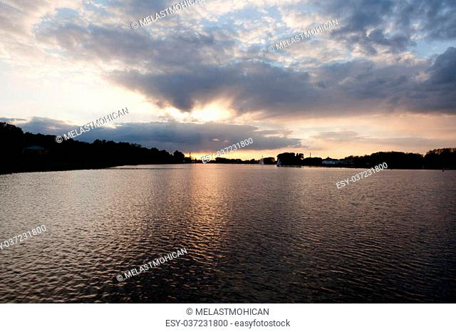 Lake Malta is an artificial lake in Pozna?, Poland. It was formed in 1952 as a result of the damming of the Cybina River. It is about 2