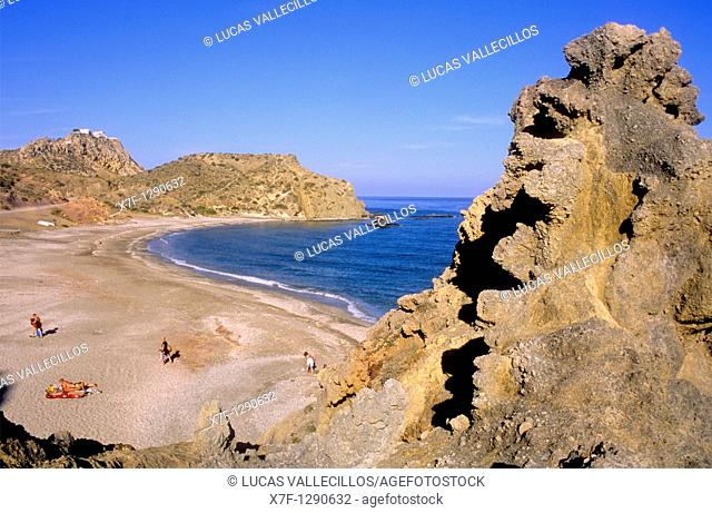 Playa del Sombrerico, Mojacar, Almeria province, Andalucia, Spain