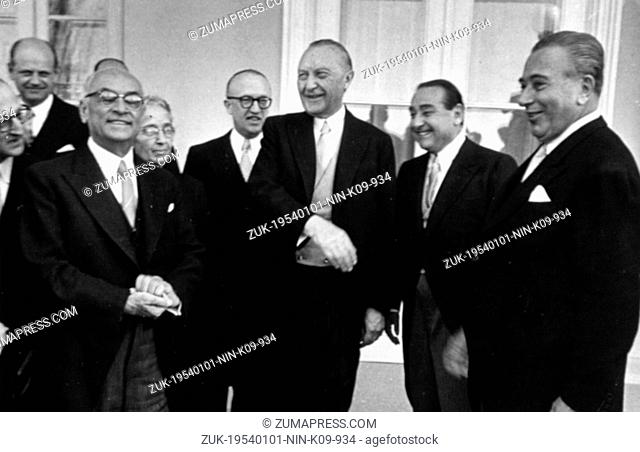 Jan. 1, 1954 - Bonn, Germany - West Germany's first chancellor KONRAD ADENAUER began his career in politics as a member of the Cologne City Council