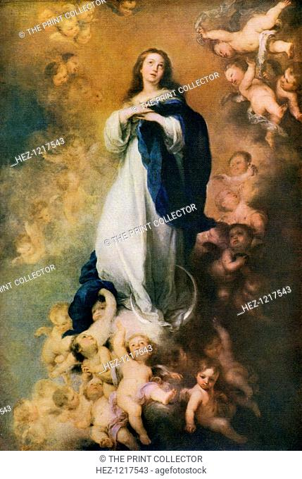 'Immaculate Conception', c1678, (1912). A colour print from Famous Paintings, with an introduction by Gilbert Chesterton, Cassell and Company, (London, New York