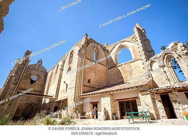 Ruins of the Monastery of San Anton near Castrojeriz village, Way of St. James, Burgos, Spain