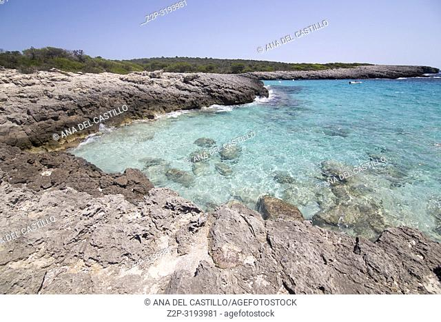 Son Saura beach Minorca island Balearics Spain
