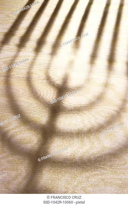 Shadow of a menorah