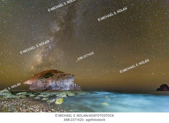 Night view of the Milky Way from Himalaya Beach, Sonora, Mexico