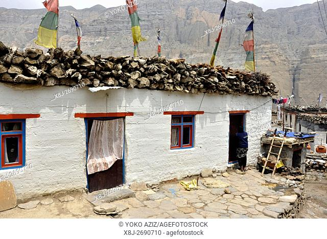 Nepal, Mustang, traditional village