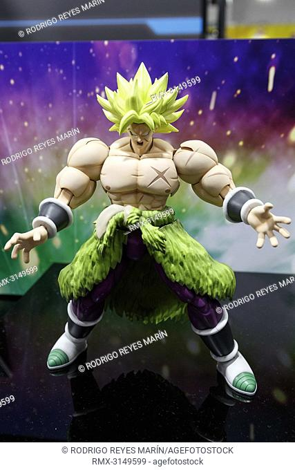 September 29, 2018, Tokyo, Japan - An action figure of Broly on display during the 58th All Japan Model and Hobby Show in Tokyo Big Sight