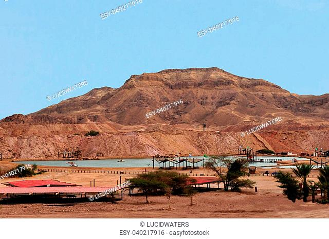 TIMNA, ISR - OCT 15:General view of Timmna lake at Timna Park on October 15 2008.It's the world's first copper production center founded my the Egyptian in the...