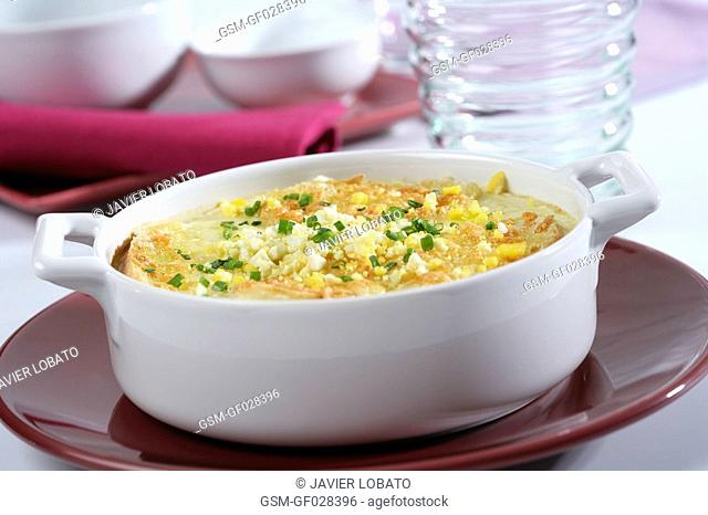 Soup of onion and egg