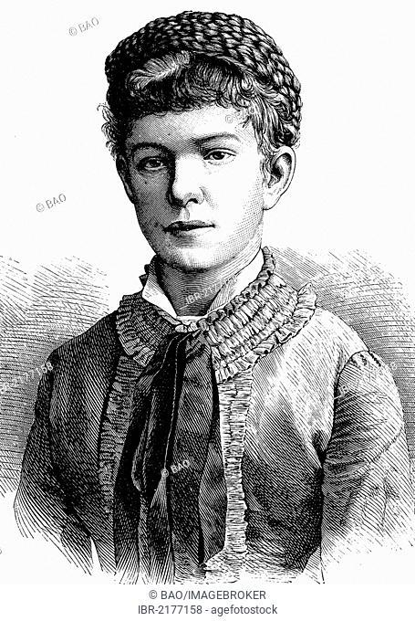 Archduchess Marie Valerie Mathilde Amalie of Austria, 1868 - 1924, daughter of the Austro-Hungarian rulers Franz Joseph I
