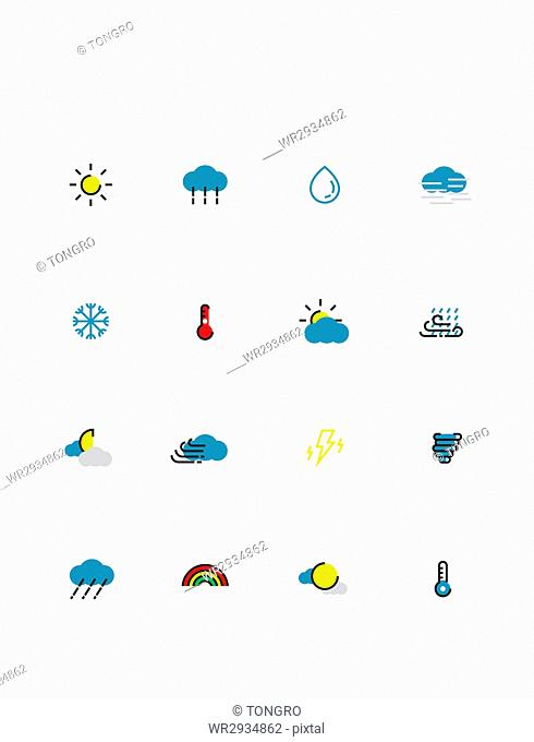 Icons related to weather