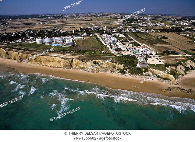Conil de la Fontera's coast  Cádiz area Spain  Aerial view