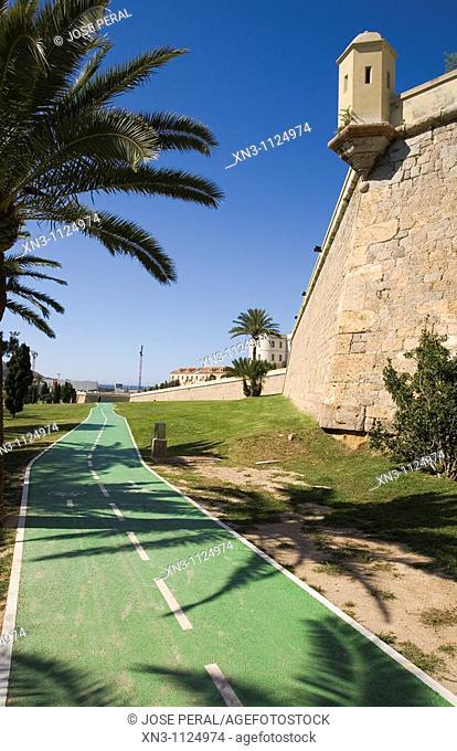 City wall, Cartagena, Costa Calida, Murcia, Spain
