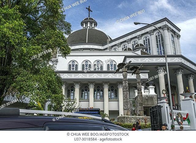 Pontianak's Catholic church in city centre, West Kalimantan, Indonesia
