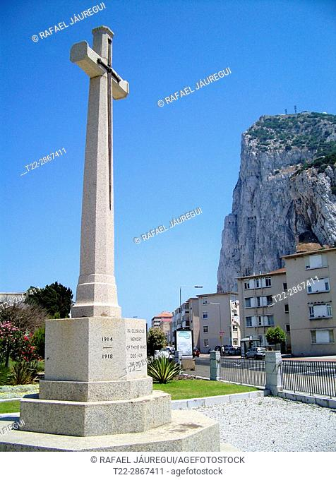 Gibraltar (United Kingdom). Monument to all fallen by the British Empire