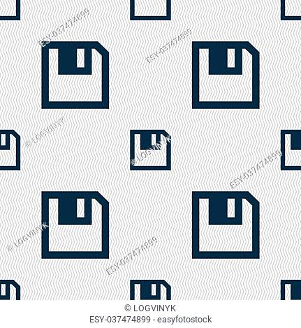 floppy icon. Flat modern design. Seamless abstract background with geometric shapes. illustration