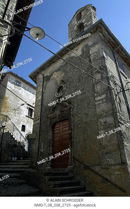 Low angle view of a building, Monti Sibillini National Park, Umbria, Italy