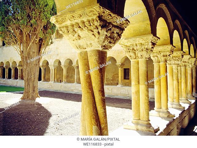Romanesque cloister  Santo Domingo de Silos monastery, Burgos province, Castilla Leon, Spain