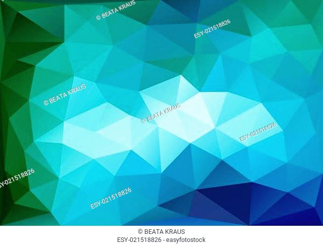 abstract blue and green low poly background