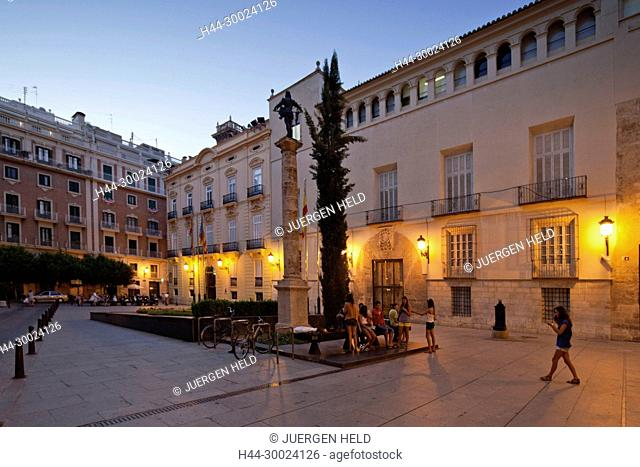 Seat of Government at Plaza de Manises in old city center of Valencia, Spain