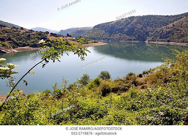Mansilla reservoir. Logroño. La Rioja. Spain. Europe