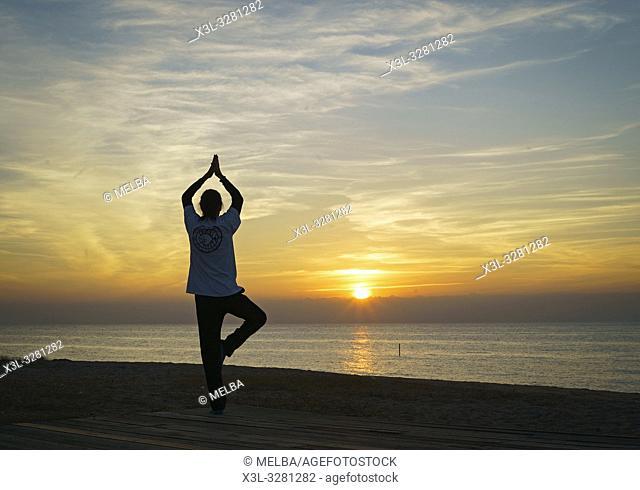 Yoga. Pineda de Mar. Barcelona. Catalunya. Spain