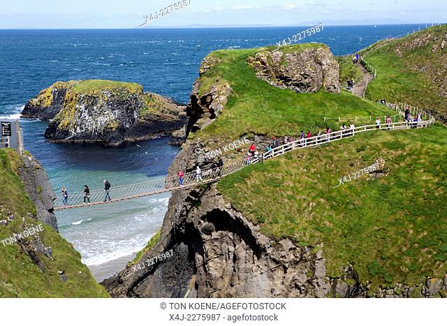 Carrick-a-Rede Rope Bridge is a famous rope bridge near Ballintoy in County Antrim, Northern Ireland