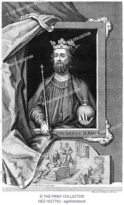 Edward II of England. From the tomb at Gloucester Cathedral