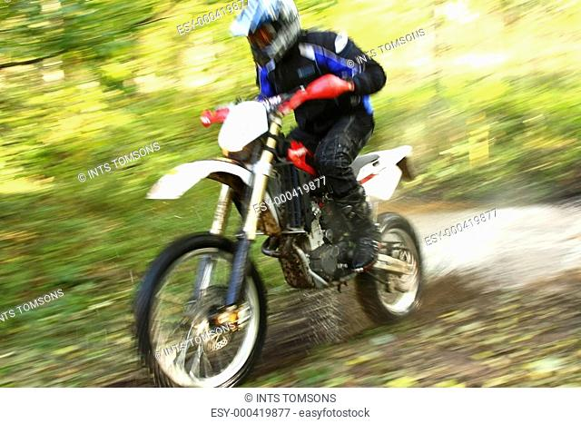 Motion blur, off-road motorbike