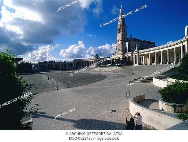 Basilica of Our Lady of the Rosary. Fatima, Portugal. 3rd July 2000