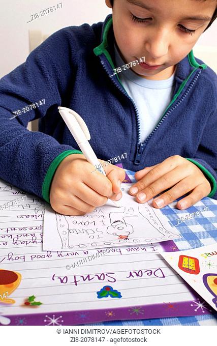 Child writes letter to Santa Claus