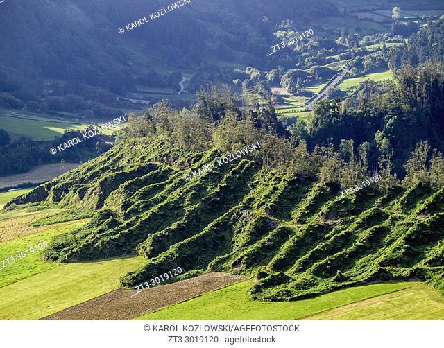 Landscape near Sete Cidades, Sao Miguel Island, Azores, Portugal