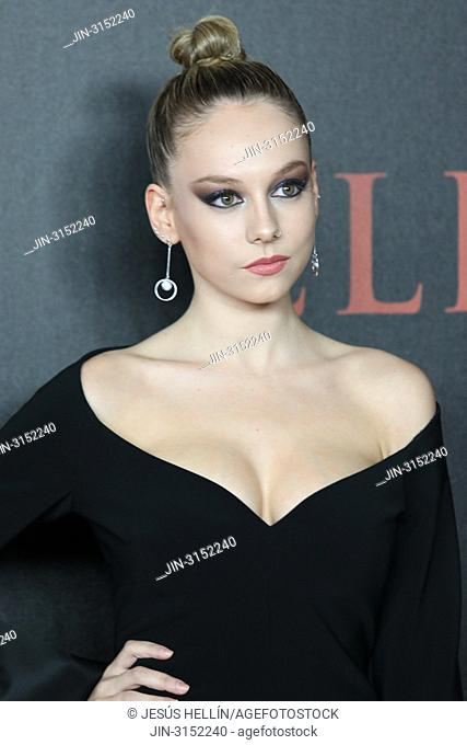 Actress ESTER EXPOSITO attends 'Elite' premiere at Reina Sofia Museum. Premiere of the Élite series, which premieres Netflix -it is its second Spanish original...