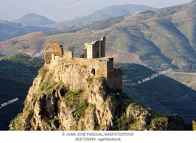 Castle, Lanjaron. Alpujarras, Granada province, Andalucia, Spain