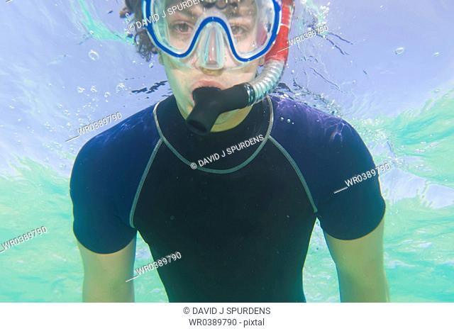 Snorkelling in the sea