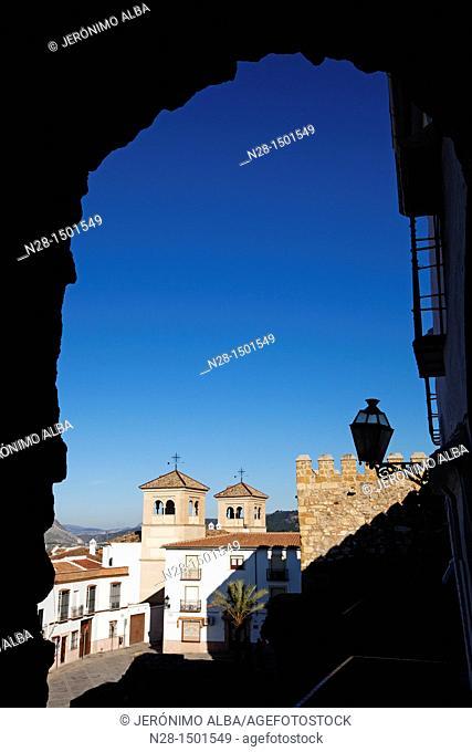 Postigo de la Estrella Arab wall, Antequera, Malaga Province, Andalusia, Spain