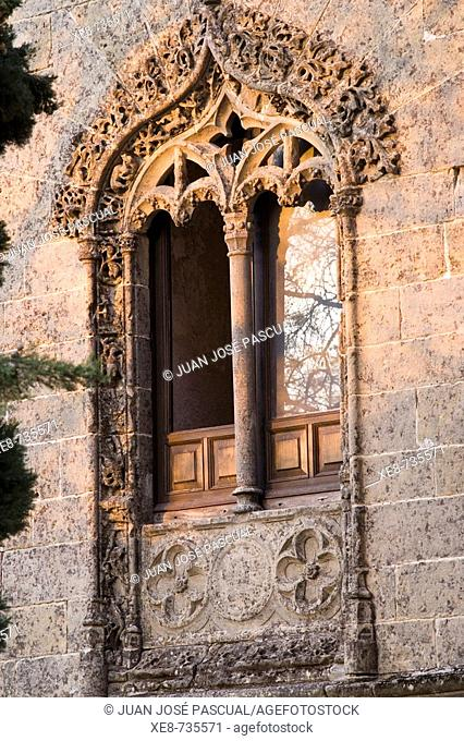 Detail of old gothic chancellery, Baeza. Jaen province, Andalucia, Spain